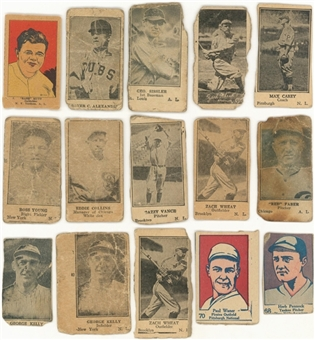 "1920s-1930s ""W""-Strip Cards Collection (39) Including Ruth and Other Hall of Famers"