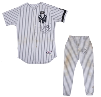 Arods 600th HR Uniform! Alex Rodriguez Game Used, Photo Matched, Signed/Inscribed NY Yankees Home Uniform Used On 8/4/10 For 600th HR-Jersey & Pants (AROD LOA, MLB Auth & Resolution Photomatching)