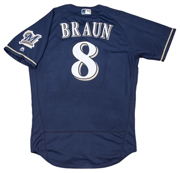 2016 Ryan Braun Game Used & Photo Matched Milwaukee Brewers Alternate Jersey Used For Career Home Run #259 (MLB Authenticated & Resolution Photomatching)