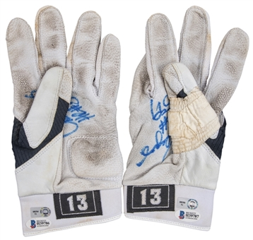2010 Alex Rodriguez Game Used & Signed Nike Batting Gloves Used For Career Home Run #599 (MLB Authenticated, Rodriguez LOA & Beckett)