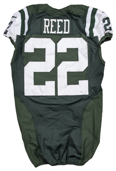2013 Ed Reed Game Used & Photo Matched New York Jets Home Jersey Used on 12/22/2013 vs Cleveland Browns (Sports Investors Authentication & McGahee LOA)