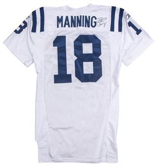 2009 Peyton Manning Game Used & Signed Indianapolis Colts Road Jersey Used on 10/11/09 vs Tennessee Titans (NFL-PSA/DNA)