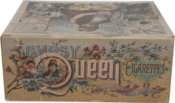 "1880s Goodwin & Co. ""Gypsy Queen Cigarettes"" Counter-Sales Display Box"
