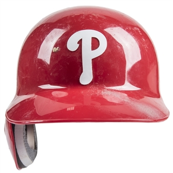 2013 Chase Utley Game Used Philadelphia Phillies Batting Helmet (MLB Authenticated)