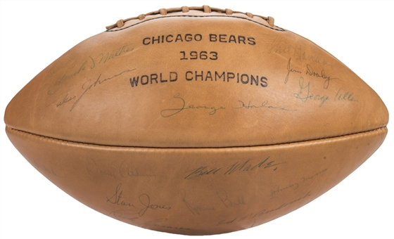 Circa 1963-1964 Chicago Bears Team Signed Wilson Football With 38 Signatures Including Halas, Ditka & Jones (Beckett)