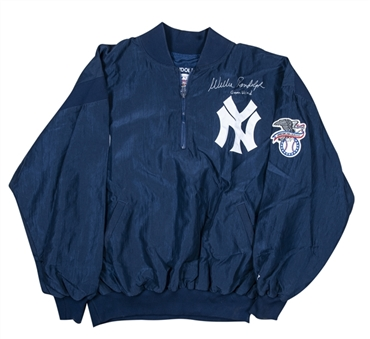 1980s Willie Randolph Game Used and Signed New York Yankees Starter Windbreaker (Randolph LOA)