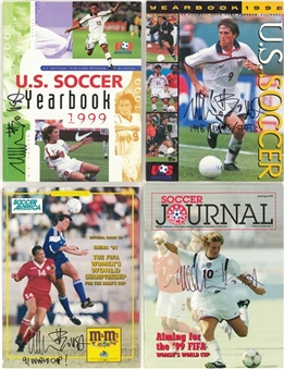 Lot of (14) Michelle Akers Signed Publications (Akers LOA)