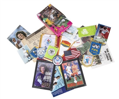 Michelle Akers Remainder of Collection (100+) Items Including Signed Photos, Posters, UCF Hall of Fame Induction Medal, and Surgically Removed Pin from Leg (Akers LOA)