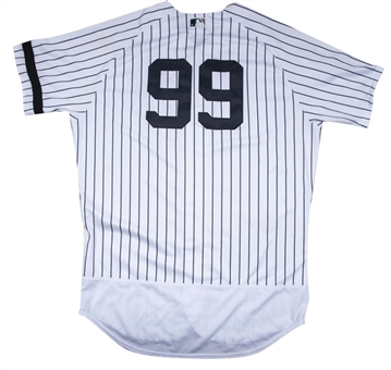 2017 Aaron Judge Game Used Rookie New York Yankees Home Jersey Photo Matched To 9/28/17 For Season Home Run #51 - Career Home Run #55 (MLB Auth, Yankees-Steiner, Sports Investors)
