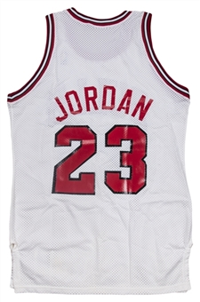 1989-90 Michael Jordan Game Used Chicago Bulls Home Jersey (MEARS A10 & Letter of Provenance)