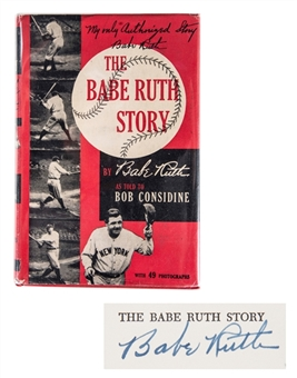 "Babe Ruth Single Signed ""The Babe Ruth Story"" 1st Edition Hardcover Book (Beckett GEM MINT 10)"