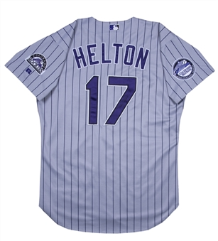 2002 Todd Helton Game Used & Signed Colorado Rockies Jersey (Beckett)