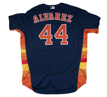 2019 Yordan Alvarez Game Used Houston Astros Navy Alternate Jersey Used For 4 Games (MLB Authenticated)