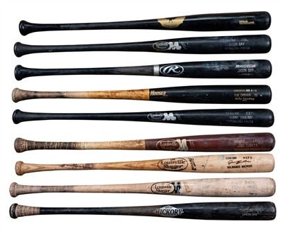 Lot of (9) Pittsburgh Pirates Players Game Used Bats (PSA/DNA Pre-Certified)