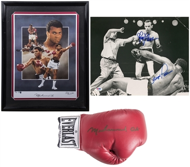 Lot of (3) Boxing Signed Items Including (2) Muhammad Ali (Beckett & PSA/DNA)