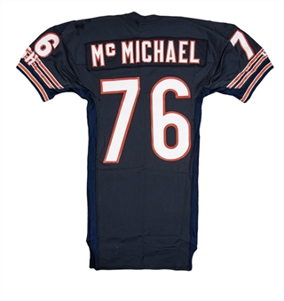 1991 Steve McMichael Game Used Chicago Bears Home Jersey