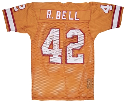 1981 Ricky Bell Game Used Tampa Bay Buccaneers Home Jersey