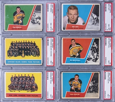 1963/64 Topps Hockey PSA NM 7 and PSA NM-MT 8 Collection (29 Different) Including Hall of Famers