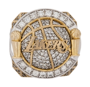 2010 Los Angeles Lakers NBA Championship Player Ring (Artest) With Original Presentation Box