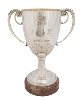 1930 World Cup Silver Trophy Awarded to Uruguay Team Captain Jose Nasazzi