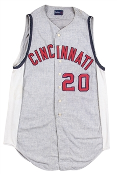 1961-1962 Frank Robinson Game Used Cincinnati Reds Flannel Jersey (Sports Investors Authentication)