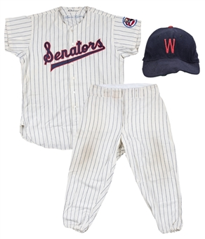 1960 Harmon Killebrew Game Used & Signed Washington Senators Home Uniform: Jersey, Cap & Photo Matched Pants-Final Year of Senators! (MEARS A10, Sports Investors Authentication & Beckett)