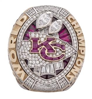 2020 Kansas City Chiefs Super Bowl LIV Championship Ring Presented To Mike Weber (Weber LOA)