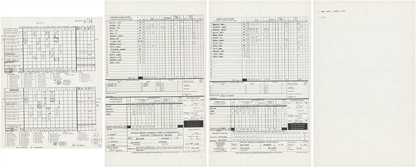 1995 Cal Ripken Jr. Copy of #2131 Consecutive Games Score Card (Ripken LOA)