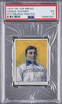 "1910 D322 Tip Top Bread Honus Wagner, Pittsburgh Pirates – PSA EX 5 ""1 of 3!"""
