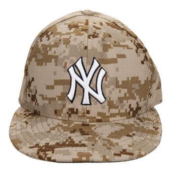 b5becd834d6 2014 Mariano Rivera Game Worn New York Yankees Memorial Day Camouflage Cap  (MLB Authenticated)
